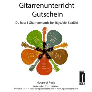 1 Gitarrenstunde Gutschein